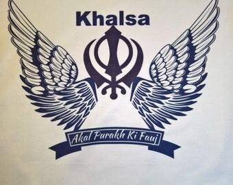 """Premium quality tshirt with """"Khalsa - Akal Purakh Ki Fauj"""" design"""
