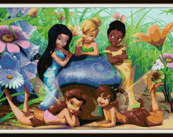 Tinkerbell and Friends Cross Stitch Pattern - PDF Download