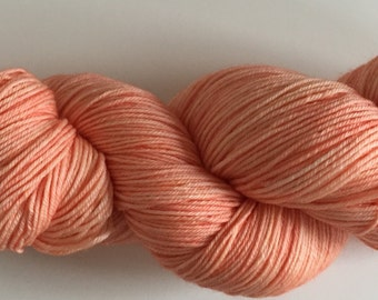 SALE Apricot - 100g fingering weight hand dyed yarn