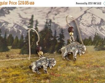 1 Day Sale Buffalo Hook Back Earrings 32x16 6.5g Sterling Silver