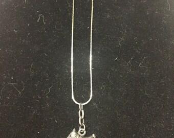 Vintage Scotty Dog Silvertone Necklace