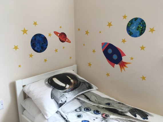Space Wall Sticker Set Space Decal Set Planets And Stars