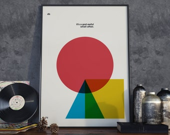 David Bowie Quote Poster Print, Minimal Art, Home Decor, Music Wall Art, Typography Print