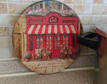 1 cork coasters/kitchen decor/table decor/cooking pot decor/pan coasters