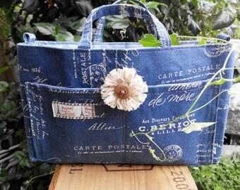 Bag Organizer, Compartment Bag, Fabric Organizer, Vintage Style Bag Organizer, Bag Organizer For Her
