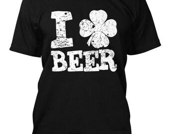 I Love Beer Shamrock Men's T-Shirt