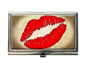 Kissing Lips Business Credit Card Holder Case