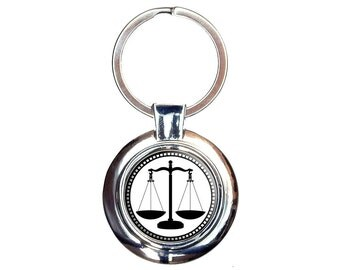 Scales of Justice Keychain Key Ring