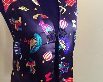 Diane Von Furstenberg black festive vest