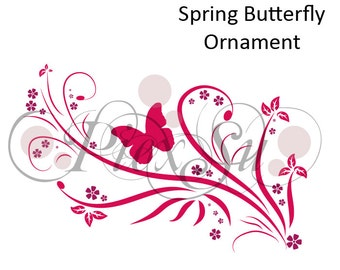 Ploter file: Spring Butterfly Ornament