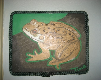 Frog /Original Painting/Rope Frame