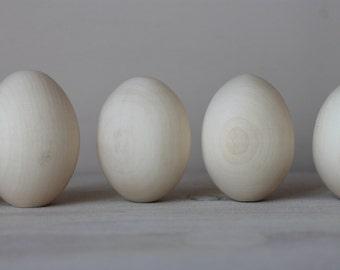 "10 Wooden eggs 2.2"" (5.5 cm)"