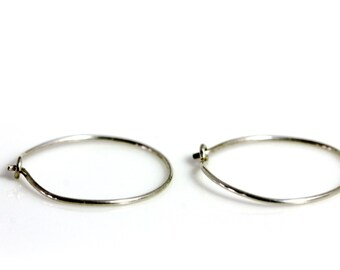Sterling Silver Earring Findings | Jewelry Supplies | (4) Sterling Silver Hoop Earrings | DIY | Beadvamp | Handmade Jewelry Components