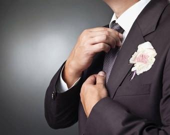 Boutonnière du Marié ,Wedding boutonniere, boutonnière mariage homme,wedding boutonniere , brooch bouquet, Buttonhole wedding boutonniere