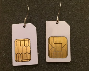 Smart Earrings - Made with Reclaimed SIM Cards