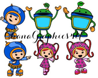 Nick Jr Inspired Team Umizoomi Combo Pack SVG