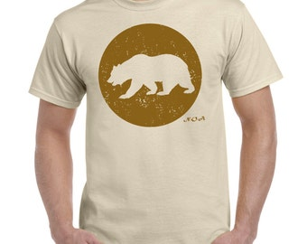 Bear walking Tee Shirt by NOA (Wilderness theme, california theme, bear theme, outdoors theme, nature theme, forest theme, cub, grizzly)