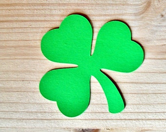 Large paper shamrock die cut, 20 pcs, READY TO SHIP in 1-2 days, Shamrock cut outs,Paper clovers,Clover die cuts,Green clover,Green shamrock