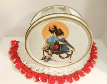 Vintage Norman Rockwell Tin/ Limited Edition Series 1986