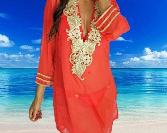 Beach Coverup, Red, Resort, beach coverups, swimsuit coverup, Beach Cover ups ,honeymoon, Tunic, Vacation wear, Beach cover-ups, Beach Tunic