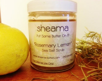 Sheama Rosemary Lemon Dead Sea Salt Scrub
