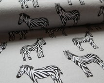 MICHAEL MILLER FABRIC Printed Babyzoo Zebra brushed flannel fabric