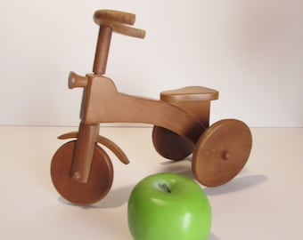 Wooden Tricycle Decorative Collectible Display Doll