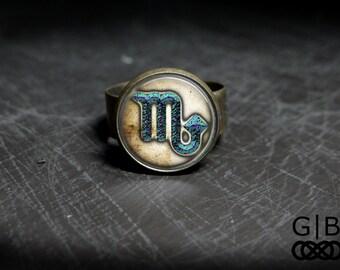 Scorpio Zodiac Ring Scorpio Horoscope Ring - Scorpio Zodiac Jewelry Astrology Ring - Scorpio Mars Ring Scorpio Jewelry - Scorpio Zodiac Ring