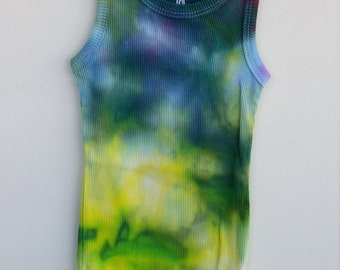 Size 0 Boys and Girls Tie Dye Singlets, 6-12 months