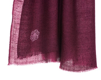 100% cashmere scarf - purple (SHKD3)