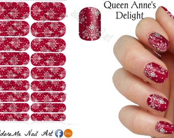 Jamberry Nail Design Queen Anne's Delight whole-  (Free Ship & Tax Incl)