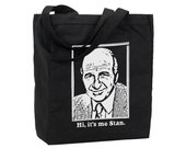 Hi It's Me Stan - Funny Golden Girls Cotton Purse Tote - Grocery Store Bag -  Recycled Cotton Canvas Bag - Item 1464