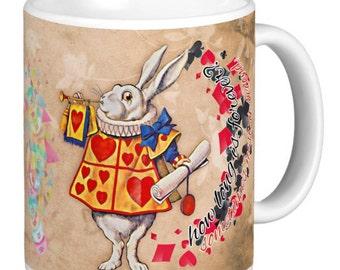 White Rabbit, Alice's White Rabbit, How Long Is Forever? Gift Mug white rabbit, Alice in wonderland