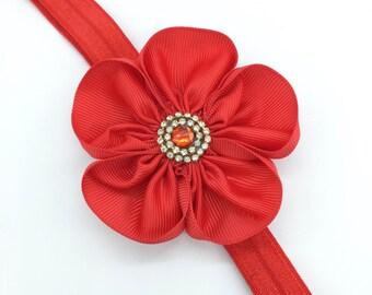 Baby Christening Flower Elastic Headband Hairband From Newborn