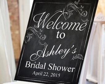 Personalized Bridal Shower Chalkboard Sign (PPD-JM928160)