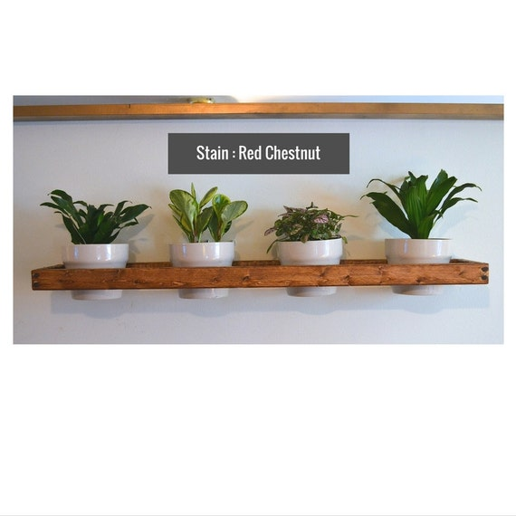 2 Wall Mounted Indoor Planters By Pinoakprojects On Etsy