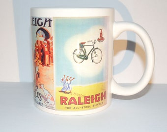 Bicycles Raleigh Old Ads - 11oz Ceramic Coffee Cup Mug