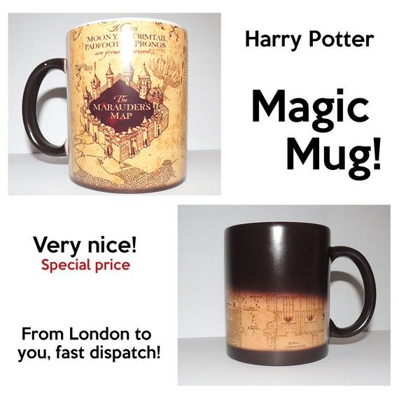 Harry Potter Marauder Map Color Changing Magic black heat sensitive Coffee Mug
