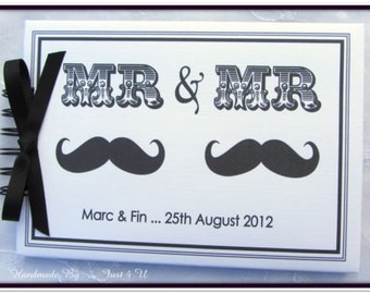 Personalised Mr Mr / Mrs Mrs / Mr Mrs / Wedding /Engagement/ Anniversary/ Photo Scrapbook Album / Guest Book