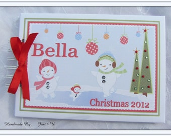 Personalised BABY'S 1ST CHRISTMAS / Guest Book/ photobook/ photo album / Scrapbook Memory Album