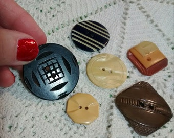 Vintage Celluloid and Bakelite Buttons