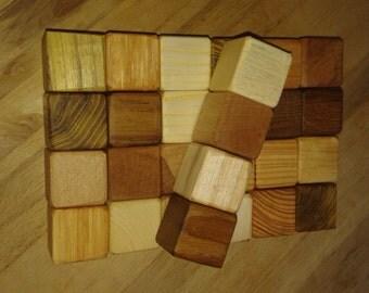Wooden Blocks, set of 28 organic blocks