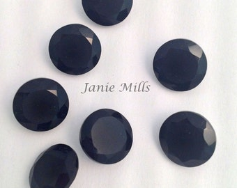 Onyx Black Faceted 10 mm round