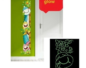 free shipping)Glow in the Dark Growth Chart …