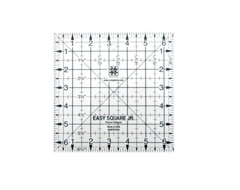"Square Junior 6.5"" Sqaure Acrylic Quilting Template"