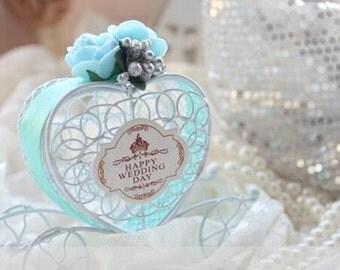 White Iron Carriage Box, Wedding Candy Box, Chocolate Box, Valentine Box (set of 12)