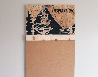 My Inspiration (with cork-board)