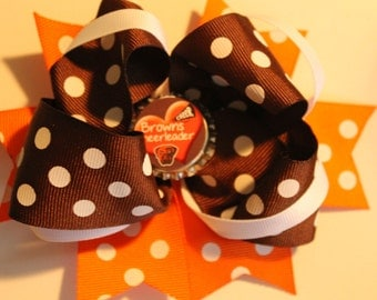 Cleveland browns hair bow