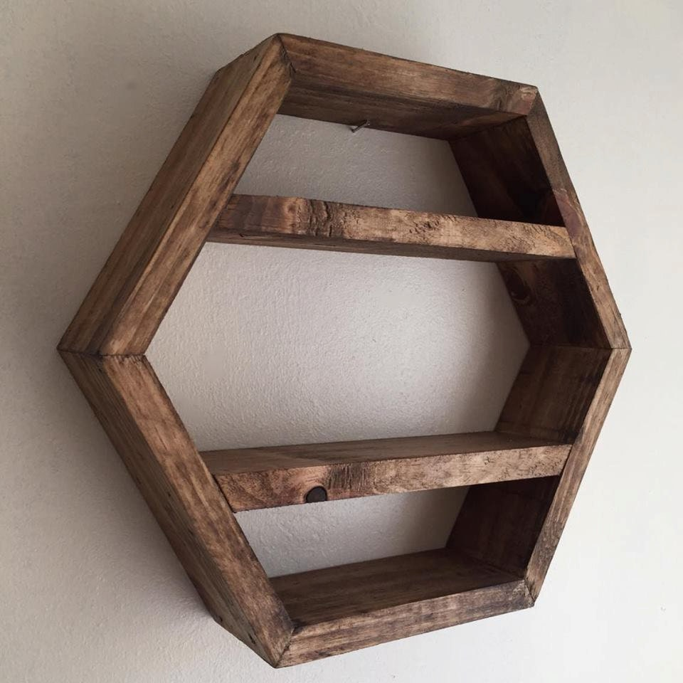 Hexagon Shelf Honeycomb Shelf Hexagonal Shelf By Lovelifewood