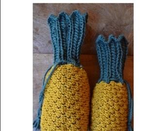 Pineapple Reticule Knitting Pattern